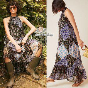 HTF NWT ANTHROPOLOGIE Katrina Patchwork Maxi Dress